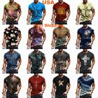 Mens T-Shirt Graphic Short Sleeve Fitness T Shirt Vintage Sports Wear Casual Tee <br/> ✅ Ship 24 hrs ✅ 2-4 Days Delivery ✅ Free 60 Days Return