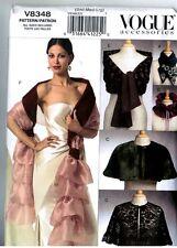 Vintage Vogue V8348 Ladies Collars Capelets Fancy Wraps Accessories Pattern SML