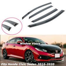 Fit Honda Civic Sedan 2016-2020 Smoke 3D Wavy Style Window Visor Rain Guard 4pcs