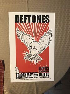 Original Deftones 2010 Concert Poster Dillinger Escape Plan