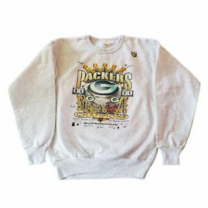 Vintage Green Bay Packers Crewneck Sweatshirt 1996 SB Champs Youth XL Size 18/20
