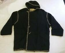 Retro Joseph Abboud Black Hooded Poncho Jacket - vintage collector