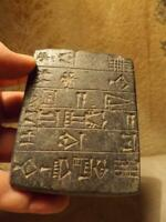 Sumerian writing - cuneiform tablet of Gudea - museum replica - Mesopotamia