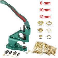 900pcs 6~12mm Machine à oeillets outils presse punch gratuit Grommet + 3 Die kit