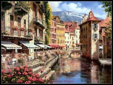 Needlework Craft DMC DIY - Counted Cross Stitch Patterns - Afternoon in Annecy