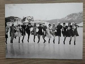Postkarte,Eiskunstläuferinnen Olympia 1928(neu)Hartkarton