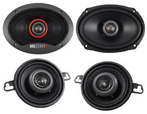"""(2) MB QUART FKB169 6x9"""" 300 Watt Car Speakers+(2) 3.5"""" 140 Watt Speakers"""