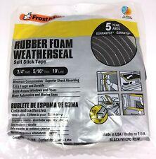Frost King R534H Sponge Rubber Foam Tape 5/16-Inch, Black, 3/4