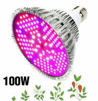 50-100W LED Grow Light Bulb Full Spectrum Plant Growing Lamp Indoor Veg Bloom