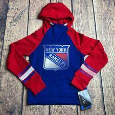 NHL Team Girls Small 7-8 New York Rangers Raglan Sleeve Hoodie Jacket Pullover