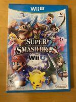 Super Smash Bros. (Nintendo Wii U, 2014) Complete