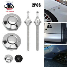Long Universal Push Button Quick Release Hood Pins Bonnet Lock Clip Latch Bumper