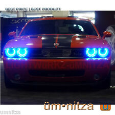 Dodge Challenger Umnitza Orion V2 MULTICOLOR LED Angel Demon Eyes REMOTE HARNESS
