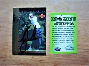TIGER WOODS AUTOGRAPH with COA
