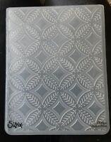 Sizzix Large Embossing Folder CIRCLES LEAVES DIAMONDS fits Cuttlebug 4.5x5.75in