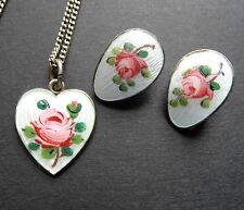 Enamel Silver Vintage Costume Necklaces