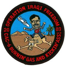 U.S. Navy Operation Iraqi Freedom 2003 CAC-6 Combat Aircrew Patch Burnin' Gas...