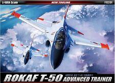 Academy 1/48 ROKAF T-50 Advanced Trainer Aircraft Plastic Model Kit Decal 12231