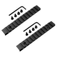 "2 PCS KeyMod 11 Slot 5 inch 5"" Picatinny Weaver Rail Adapter Section - Aluminum"