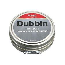Poinçon Dubbin 50 ml Tin Shoe Boot Care polonais cire cuir protéger neutre