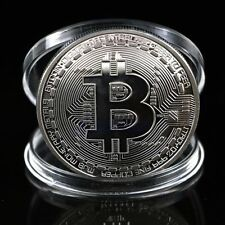 Gold Plated Physical Bitcoins Casascius Bit Coin BTC With Case Gift Decoration