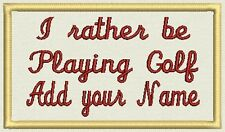 """Golf Patch, Tag, Label,  - 4 """" x 2.50"""" - Iron On or Sew On - Customize It!"""