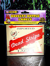 12 HALLOWEEN BEER BOTTLE PARODY LABELS red stripe st. pauli meister brau gremlin