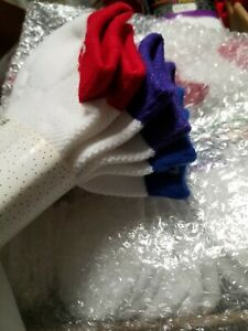 """Lot of  3  pair  """"cheer""""  Multi-colored    band  SOCKS  - women   size  9 - 11"""
