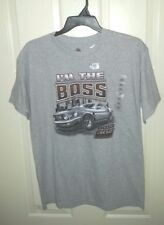 New w/oTag I'M  The BOSS Ford Mustang Boss 302 Sz L 42-44 Tee Shirt Hthr Gray