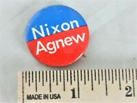 "VINTAGE NIXON AGNEW PINBACK BUTTON APPROX. 1 1/4"" ROUND   BLUE/RED COLOR"