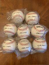 Lot (8) Wilson A1074 Ll1 Little League Baseballs Brand New In Plastic 9 In. 5 Oz