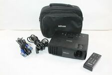 InFocus IN1110a DLP 3D Ready HDMI VGA Projector w/ Case, Cables, Remote 211 Hrs