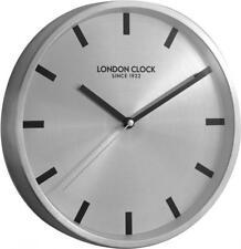Reloj de pared London Clock Company Caja de titanio de metal elegante