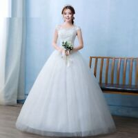 Floral Wedding Dress Lace Embroidery Gown For Brides Sleeveless Sexy Ball Gowns