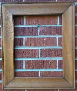 Antique Arts & Crafts MISSION Solid OAK WOOD Frame 12 1/4 x 15 1/2 in fit c1900