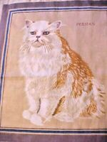 Fabric Panels Fabulous Felines Persian Great for Embroidery Embellishments Lot 2