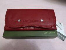 Longchamp Balzane Continental Ladies Wallet *Maroon Leather *Brand New*