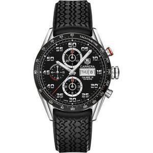 Tag Heuer Men's CV2A1R.FT6033 'Carrera' Chronograph Automatic Black Rubber Watch