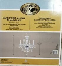 Hampton Bay Lake Point 4-Light Chrome w Crystal Chandelier 1000051537