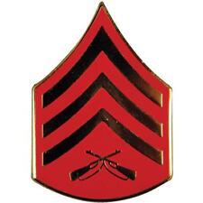 "U.S. Marine Corps E5 Rank Sgt Sergeant Emblem Usmc Lapel Hat Pin 3/4"""