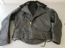 Vintage 40's or 50's Leather Motorcycle Jacket . Very Heavy. Men's Sz M or L?