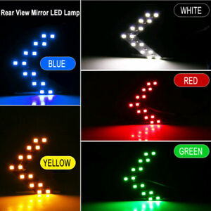 2x Car Side Rear View Mirror Turn Signal Light 14-SMD LED Lamp Accessories