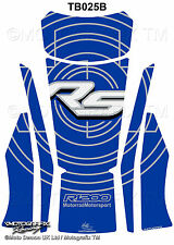 BMW R1200RS 2015 16 Blue White Motorcycle Tank Pad Motografix 3D Gel Protector
