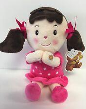 "8"" Adorable Prayer Girl Doll Plush|Muneca Reza ""Padre Nuestro""|Coral Dress_NEW."