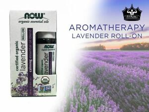 Now Foods LAVENDER Essential Oil Blend, Organic Roll-On, 10 ml (1/3 fl oz)