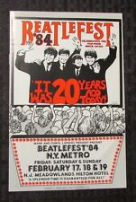 1984 BEATLEFEST Beatles Program NM New York Metro NM (A)
