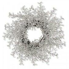 Holiday Lane Shine Bright Icy Christmas Crystallized Wreath Msrp $84