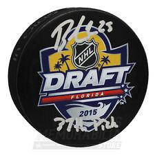 Brandon Carlo Boston Bruins Signed Autographed 2015 NHL Draft Puck