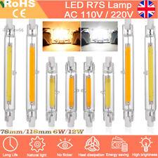 5pcs Dimmable R7s COB LED 78mm/118mm Security Flood Light Replaces Halogen Bulb