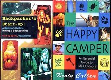 2 Outdoors books: Backpacker's Start-Up + The Happy Camper - Free Shipping!